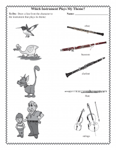 Peter and Wolf worksheet