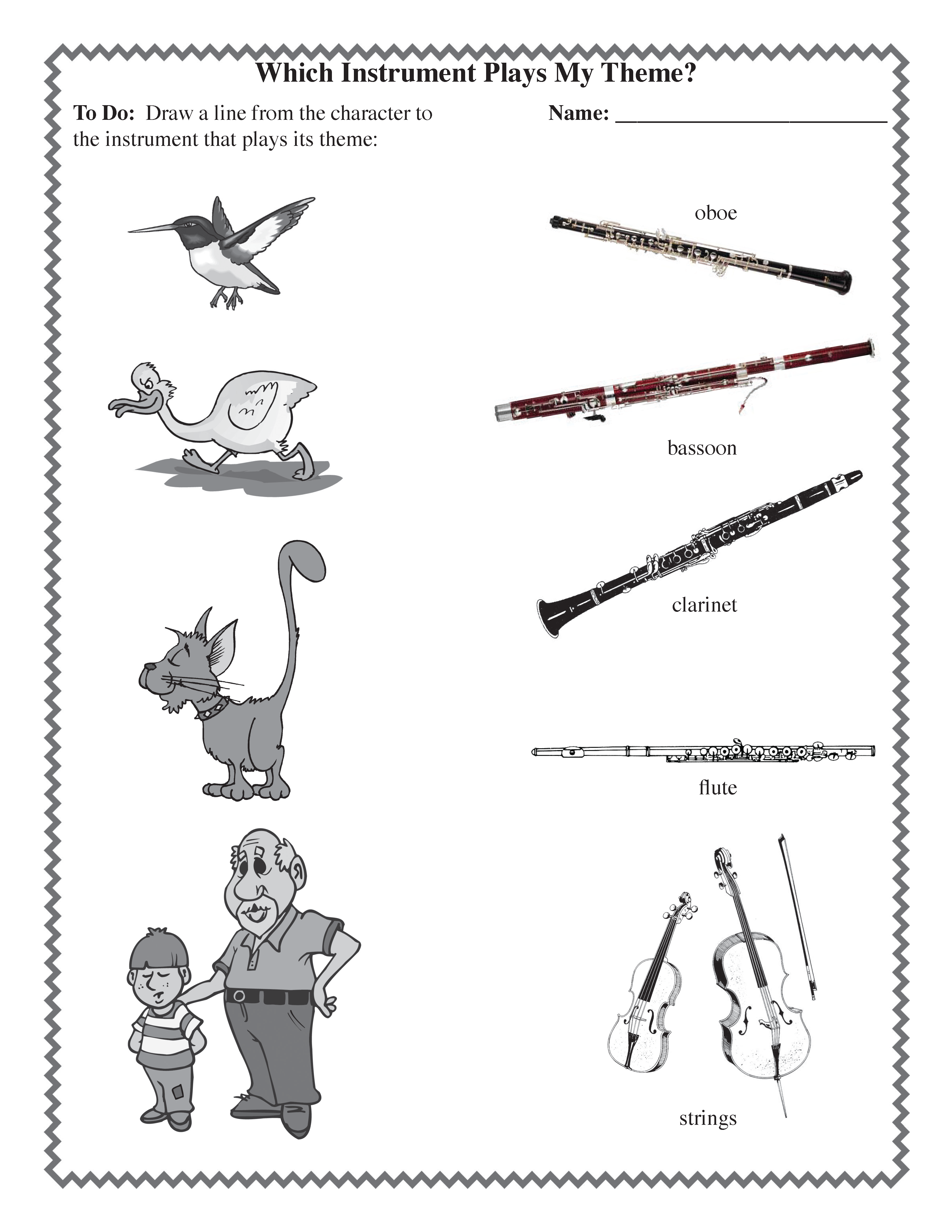 Worksheet peter and the wolf worksheet grass fedjp for Peter and the wolf coloring pages free