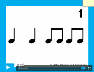 Rhythm Read 4 beats pattern